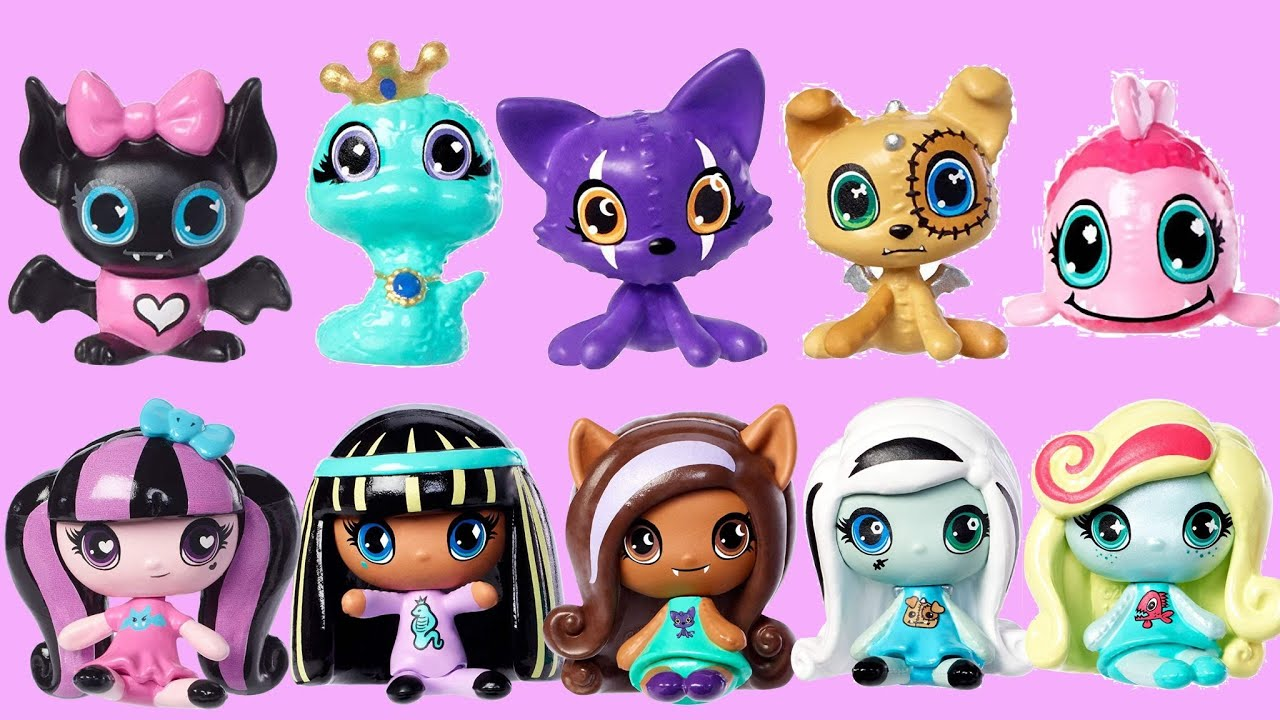 Monster High Minis With Pets Entire Collection Youtube