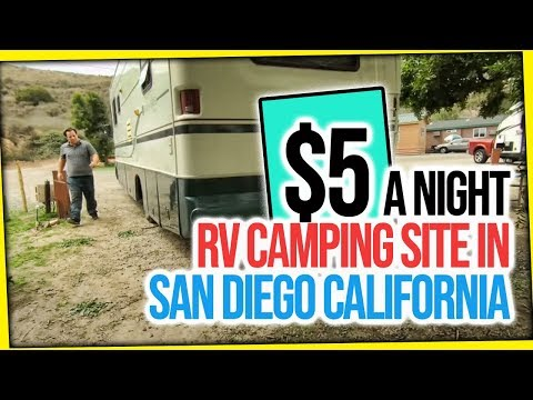 $5 A Night RV Camping Site In San Diego California RV Park Life At Thousand Trails Pio Pico