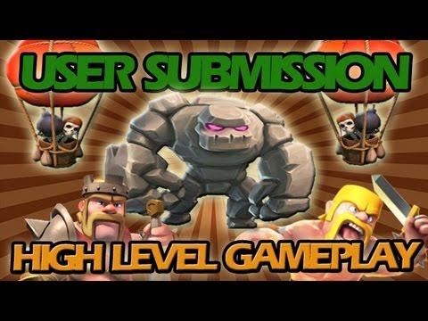 LEVEL 3 GOLEM AND LEVEL 3 PEKKA GAMEPLAY + 500K BALLOON RAID - USER SUBMISSION!!!!