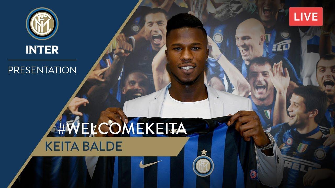 KEITA BALDE | LIVE PRESS CONFERENCE | Inter 2018/19 | #WelcomeKeita 🎙⚫🔵 -  YouTube