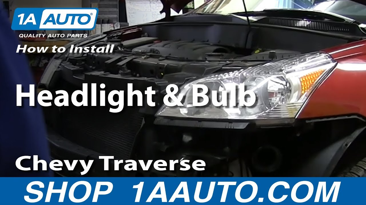 How To Install Replace Change Headlight and Bulb 2009-2014 Chevy ...