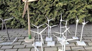 Enercon Windrad Modell Sammlung, Solar E -40, E -66, E -70, E -82, E- 101 Wind Turbine Model