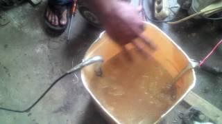 Membuat las listrik dengan air dan garam .Welding with sald water