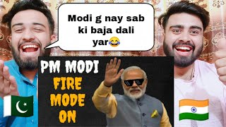 Pm Modi Is On Fire |Modi Thug Life| Reaction By |Pakistani Bros Reactions|