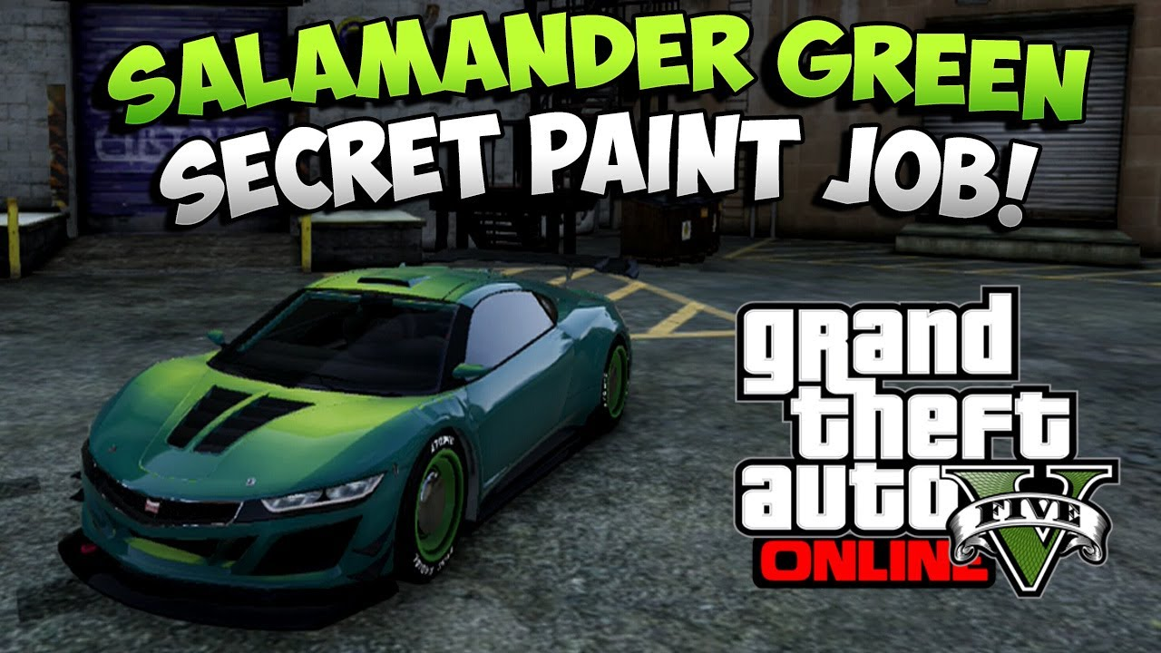 Gta 5 Rare Cars Salamander Green Secret Paint Job Online You