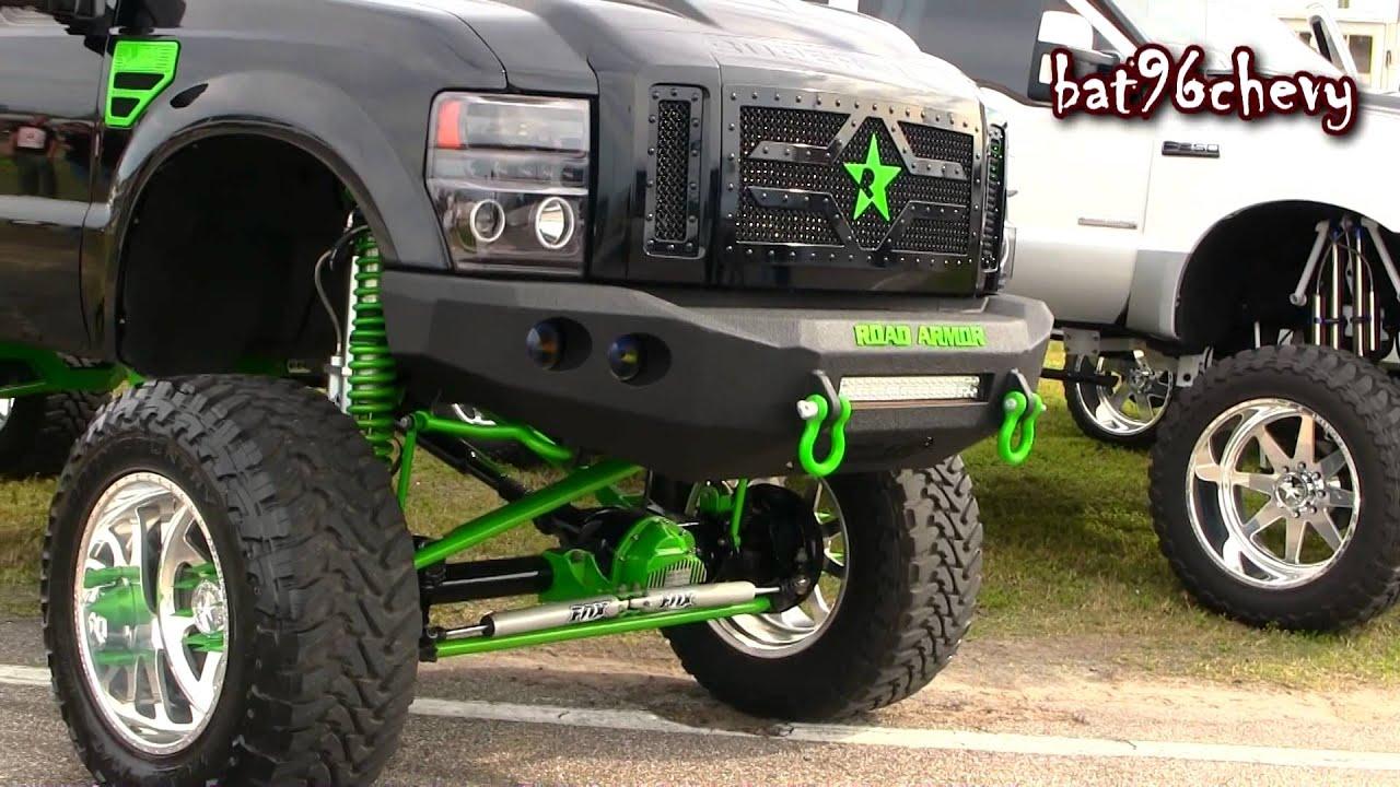 Black green 2012 ford f 250 truck w 12 lift on 22 mud grapplers 1080p hd youtube