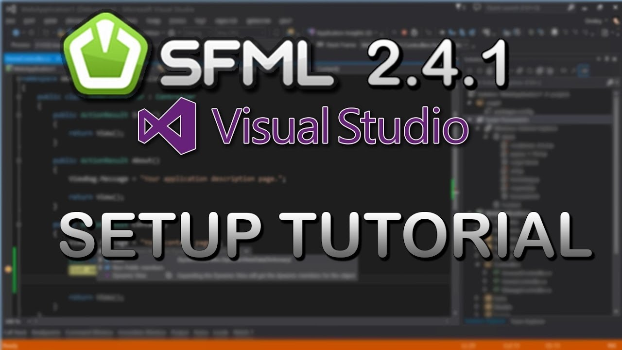 SFML 2 4 - Setup Visual Studio 2015 CE (C++ Game Development)