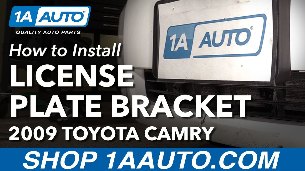 How to Install Missing Front License Plate Bracket 2007-09 Toyota ...