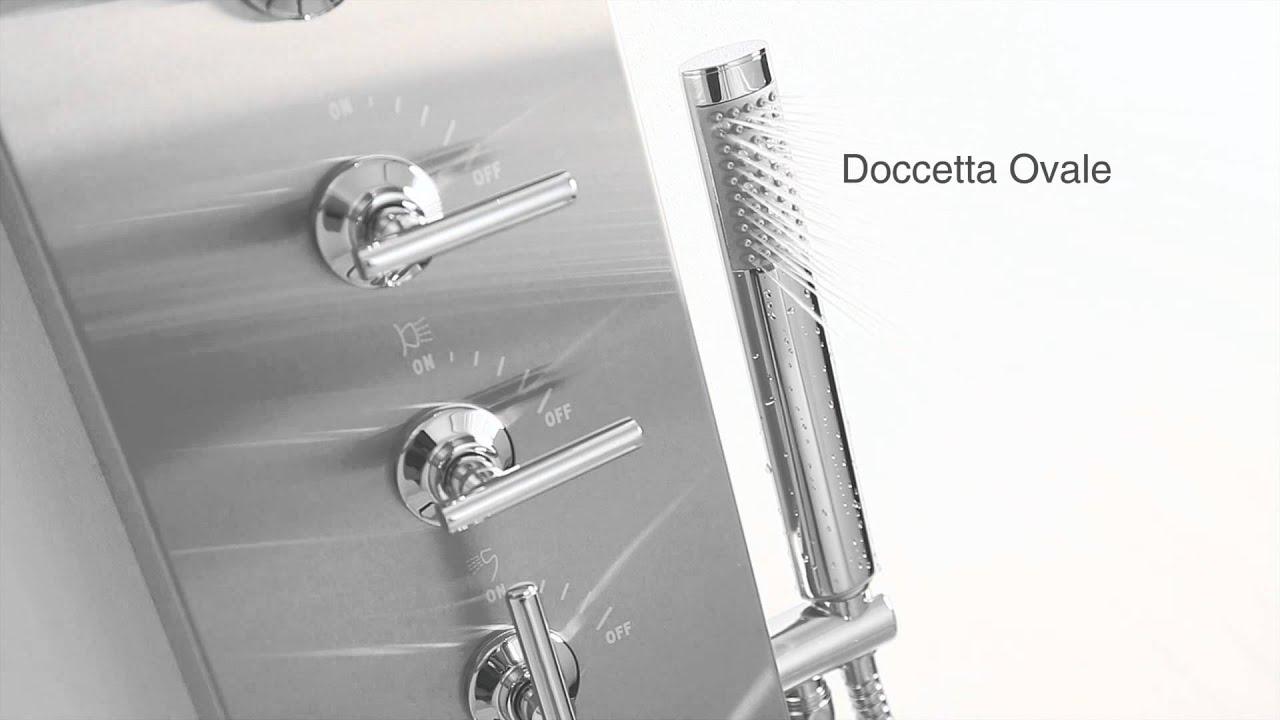 Colonna pannello doccia termostatico idrogetti soffione hudson