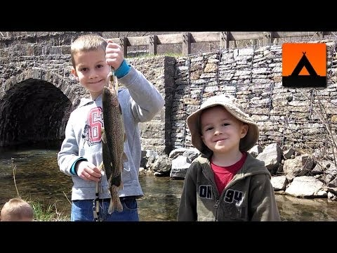 Trout fishing in Big Cove Tannery, PA - opening day 2014