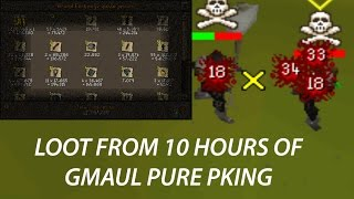 Loot From 10 Hours Of Gmaul Pure Pking - OSRS INSANE HITS