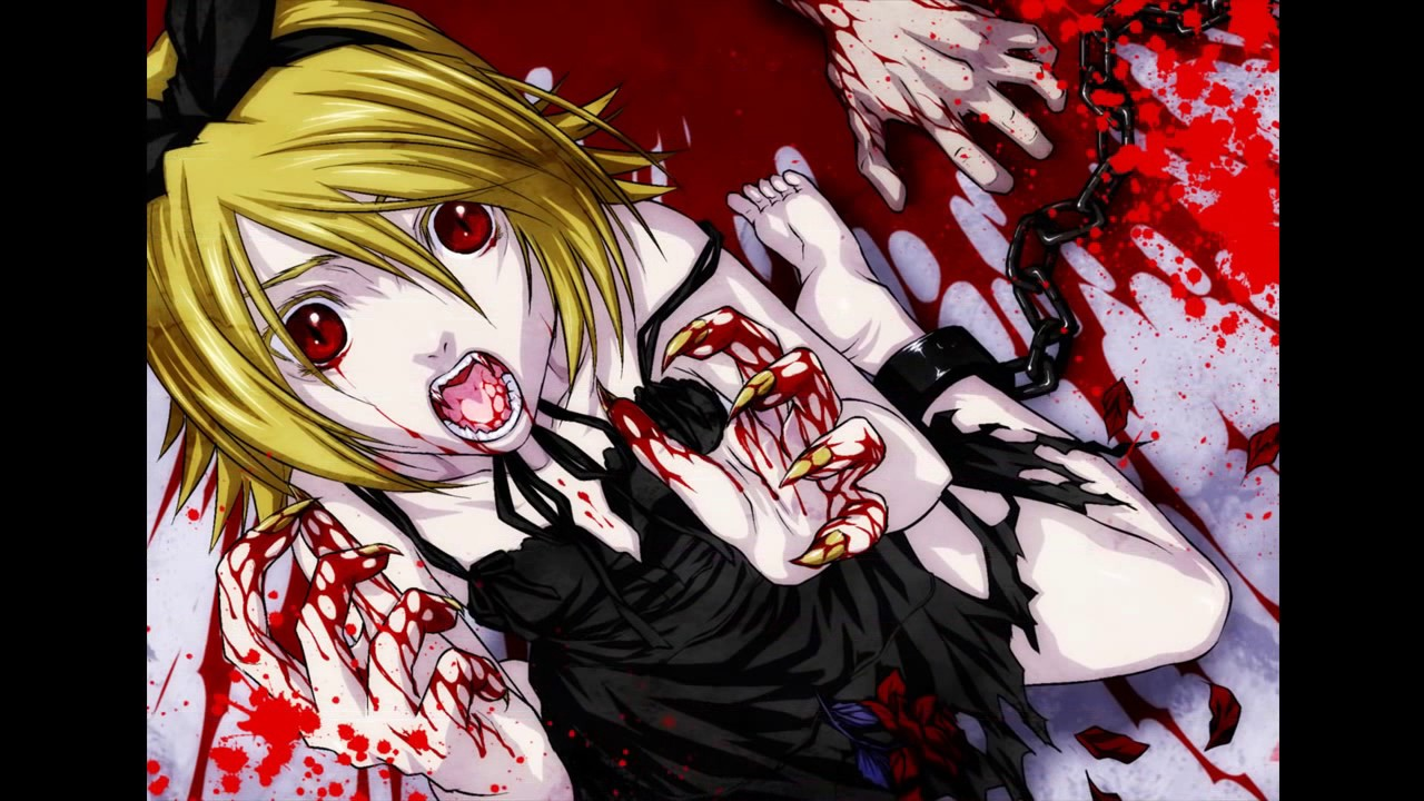 Anime blood vampire gore the beautiful people youtube - Gore anime wallpaper ...