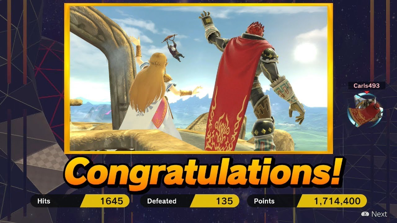Super Smash Bros Ultimate Classic Mode Intensity 9 9 Clear As Ganondorf