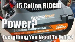 RIDGID 200-PSI 15-Gallon Portable Electric Air Compressor Review | Model # OF150200A