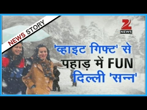 Pleasant snowfall makes Shimla white on Christmas, daubs North India with winter