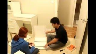 ikea brimnes dresser chest and ingolf chair