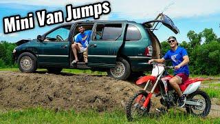 Mini Van on Dirt Bike Track!!