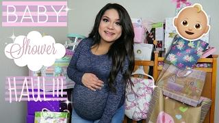 HUGE BABY SHOWER HAUL!(BABY GIRL)