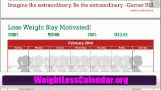 Weight Loss Calendar For Women - Free 2014 Weight Loss Calendar