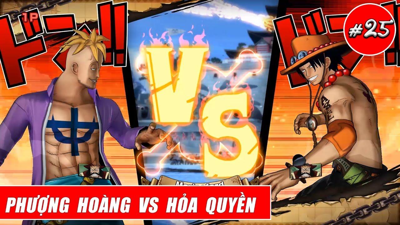 Song đấu One Piece : Phượng hoàng Marco vs Hỏa Quyền Ace