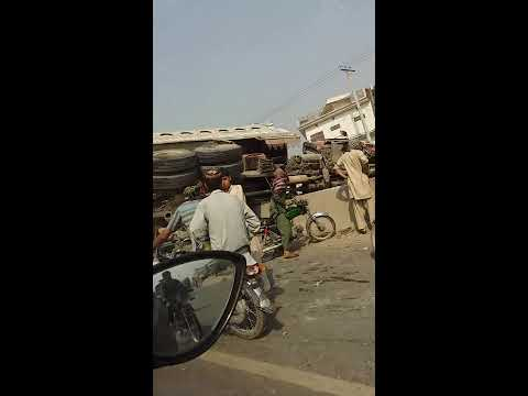 Road Accident at Daska Road, Sialkot, Pakistan.