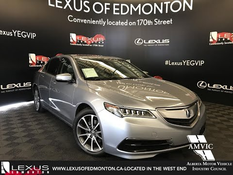 Used Silver 2015 Acura TLX V6 Tech Review Fort Saskatchewan, Alberta