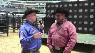 Julio Moreno, Owner Of PBR Champion Bucking Bull Bushwacker, Talks With Jason Hetland