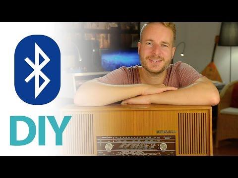 Röhrenradio mit Bluetooth Audio-Empfänger