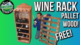 Making a Wine Rack from Free Pallet Wood, Cheap and Easy! TA Outdoors