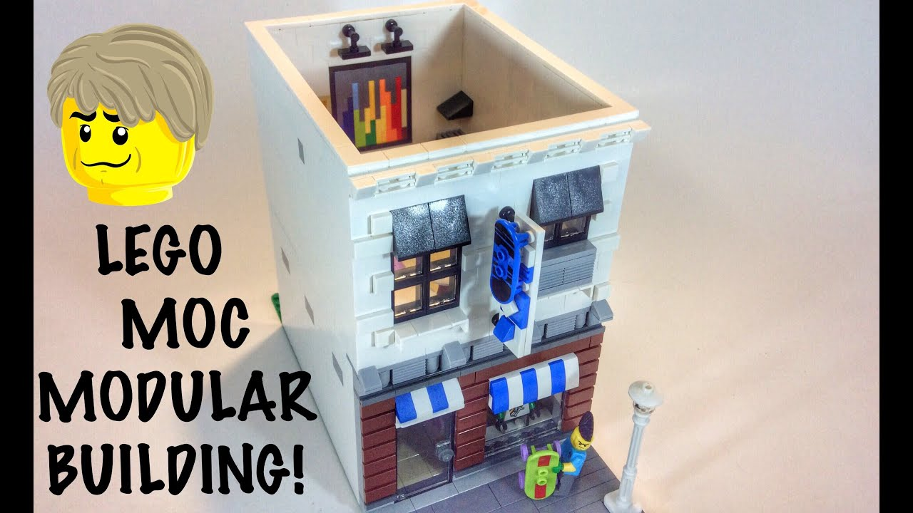 lego moc modular building youtube