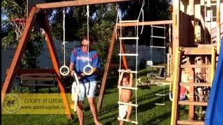 Веревочная лестница для детского спортивного комплекса(Как привязать веревочную лестницу к турнику, дск, потолку., 2016-09-03T22:17:31.000Z)