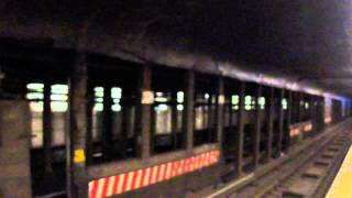 MTA Subway Bombardier R142 #1135 (4) passing through Hoyt Street