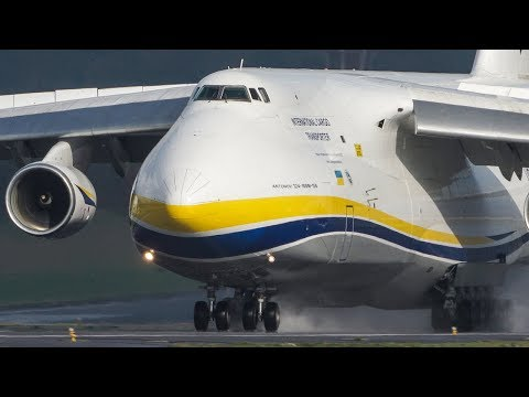 The 2nd - BIGGEST ANTONOV in the WORLD - Antonov An-124 LANDING (4k)
