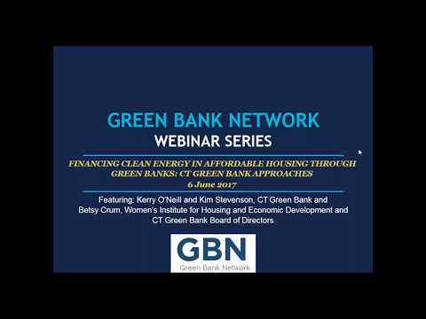 Financing Clean Energy in Affordable Housing: Connecticut Green Bank Approaches
