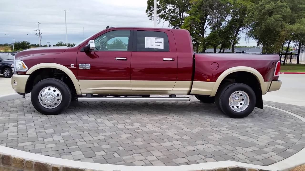 all new 2017 ram 3500 laramie longhorn mega cab 4x4 delmonico red tdy sales granbury dfw dealer. Black Bedroom Furniture Sets. Home Design Ideas