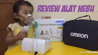 Review Unboxing Compressor Nebulizer Omron NE C801