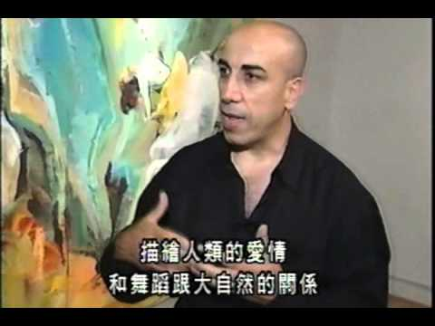 * Artist Dara Aram with Cable 47 Chinese TV . Gallery Arcturus 2000. Toronto.