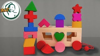 Learn shapes for kids with wooden car