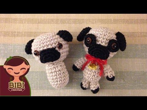 Amigurumi | Como hacer un Perro Pug en Crochet | Bibi Crochet 2017