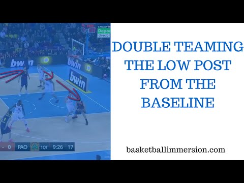 Basketball Defense: Double Teaming the Low Post from the Baseline