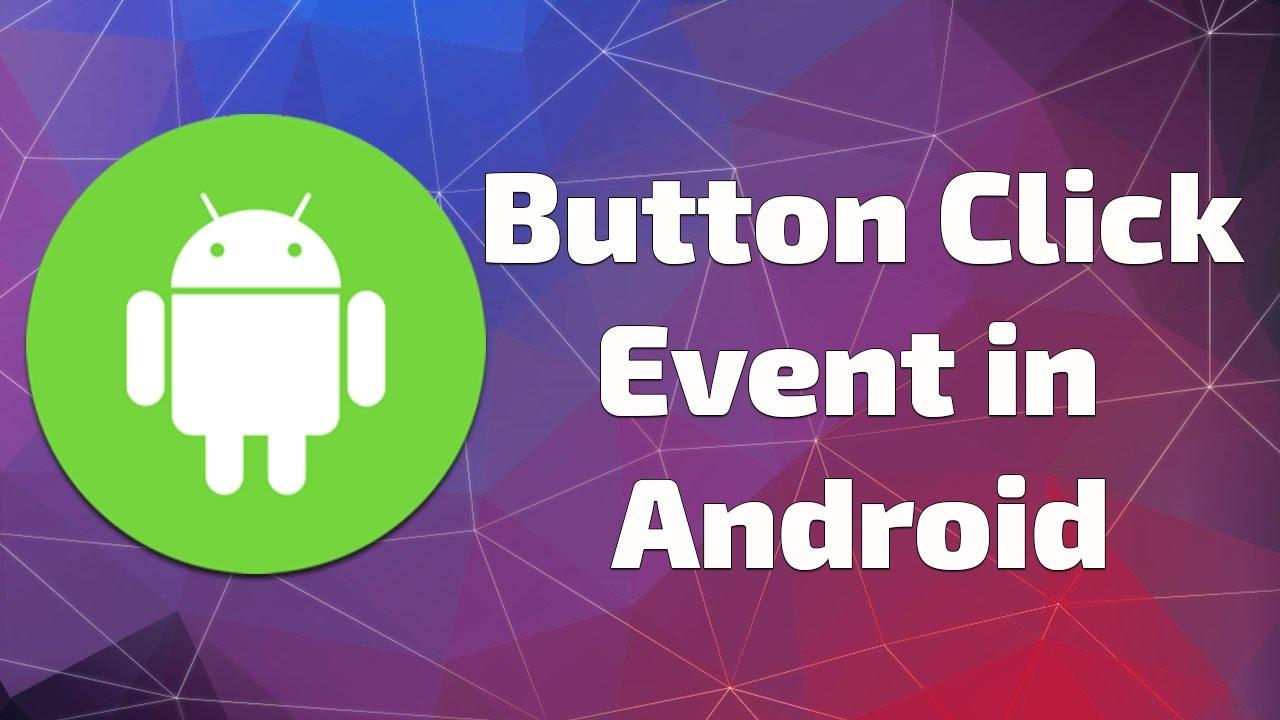 button click event in android studio