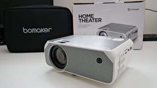 """BOMAKER GC555 720p LED Video Projector Under £90 - PS4/XBOX One on Massive 250"""" Screen"""