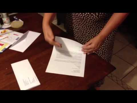 Business Letter Fold - YouTube