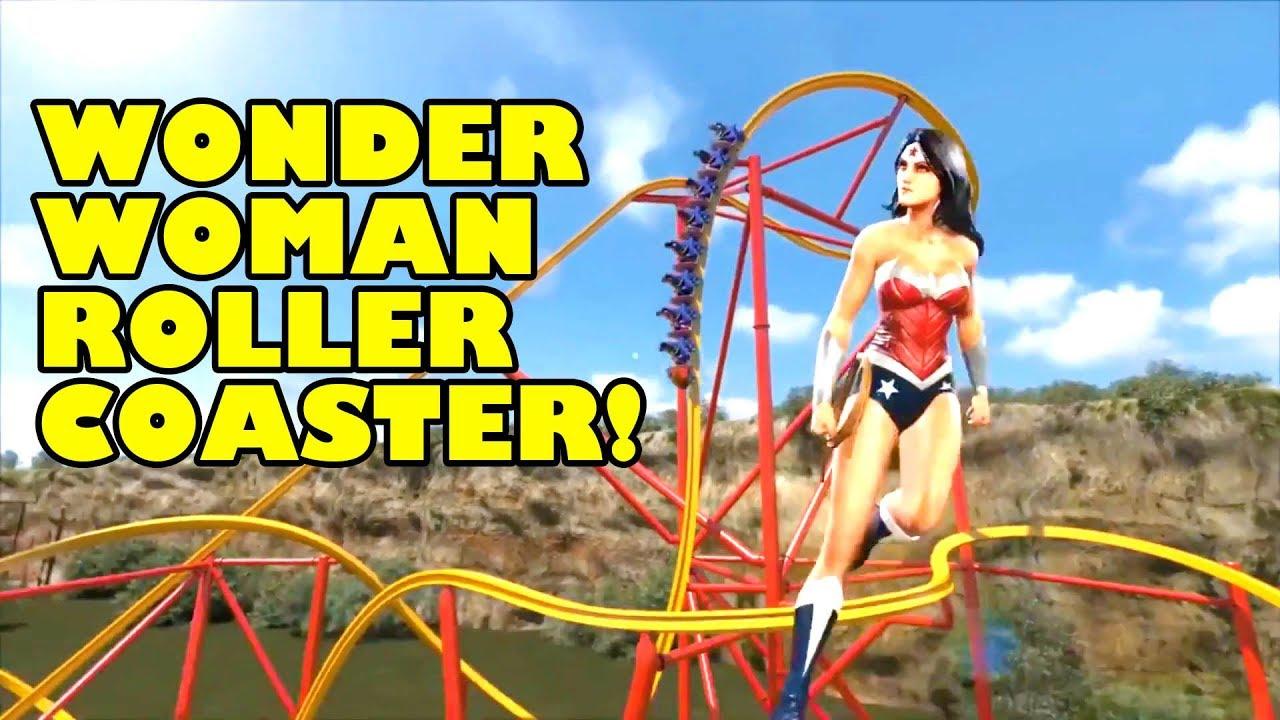 Wonder Woman Roller Coaster WORLD'S FIRST Six Flags Fiesta Texas ...