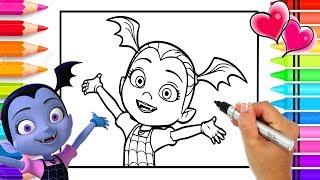 How to Draw Vampirina Step by Step by Hand | Vampirina Coloring Page | Disney Junior