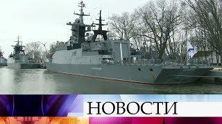 Отряд кораблей Балтийского флота вернулся на базу после дальнего похода.