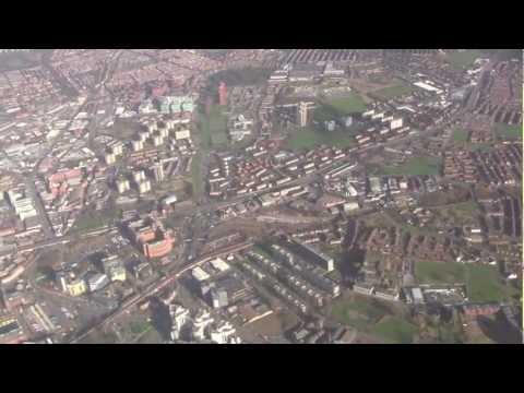 Aerial Views Around Leeds & Bradford, West Yorkshire, UK - January 2013