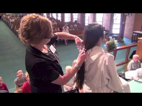 Vacation Bible School Sunday - Pastor Kim Haircut (July 28, 2013)