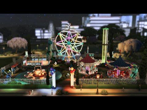 PARQUE DE DIVERSÕES DE NEWCREST 🎡 │ Povoando Newcrest 2.0 │ The Sims 4 Construção