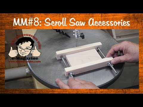 Two Must Have Scroll Saw Accessories: Blade holder/small parts jig -Mustache Mike